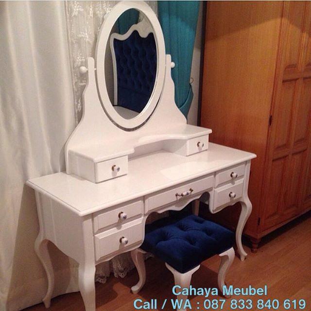 Meja Rias Minimalis Modern Duco Putih