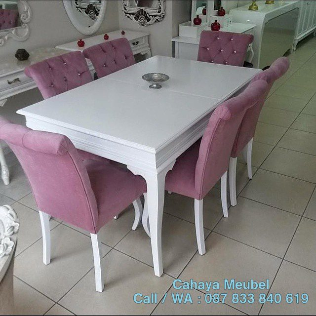 Meja Makan Minimalis Putih Duco