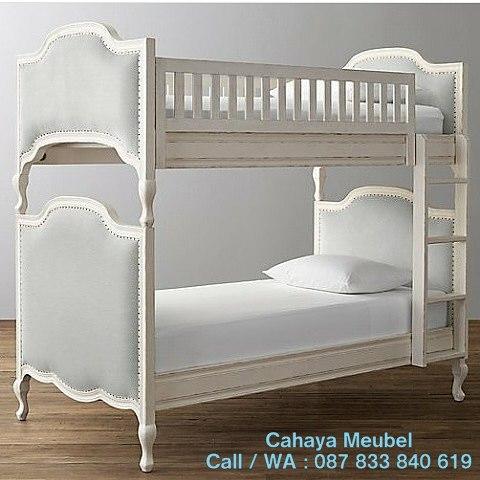 Tempat Tidur Susun Warna Putih Duco