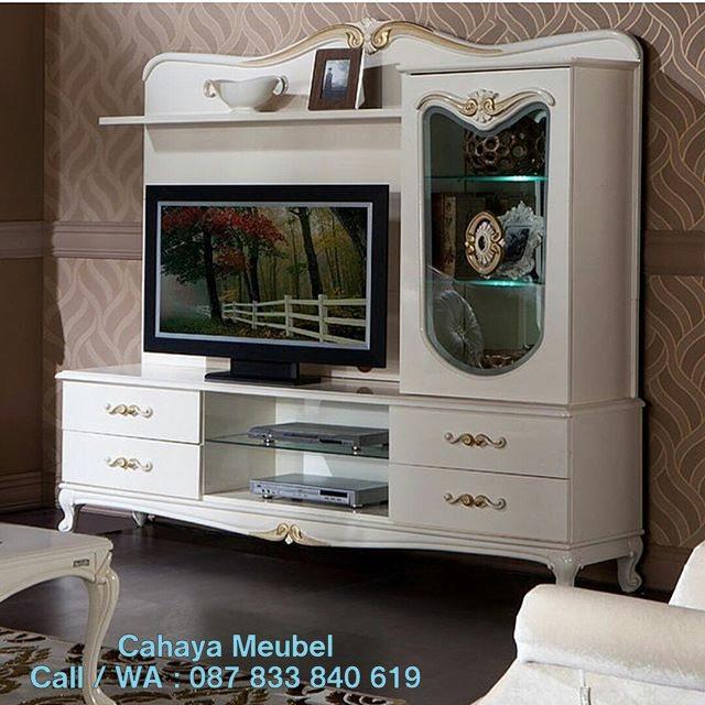 Bufet Tv Minimalis Duco Putih Jepara