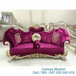 Sofa Klasik Mewah Gold Ukir Jepara