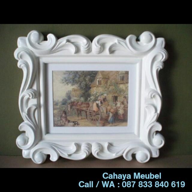 Frame Klasik Duco Putih Jepara