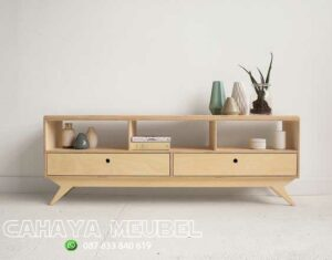 Meja Tv Minimalis Modern Kayu Model Scandinavian