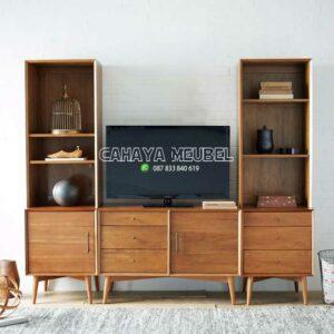 Lemari Tv Kayu Minimalis Modern